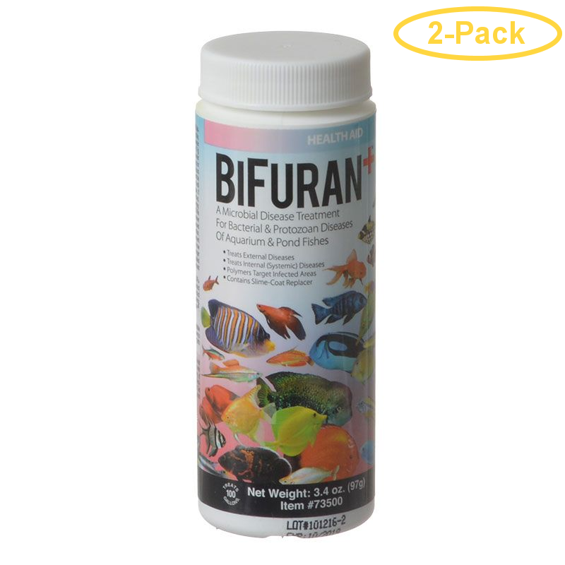 Aquarium Solutions Bifuran+ 3.4 oz - (Treats 100 Gallons) - Pack of 2