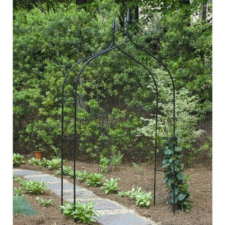 Gardman 7' Gothic Steel Garden Arbor - Black ()