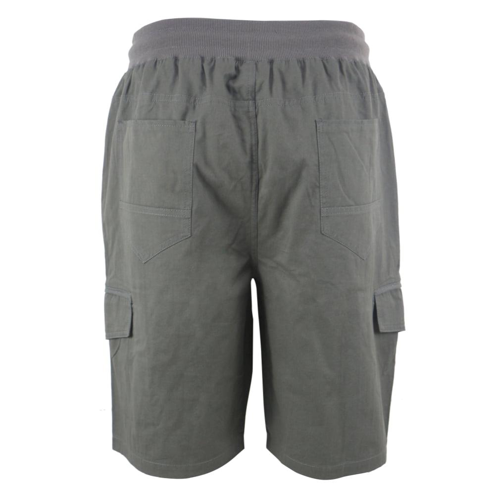 1e9d98acf4 Leehanton - Men's Soft 100% Cotton Twill Cargo Shorts Elastic Waist -  Walmart.com
