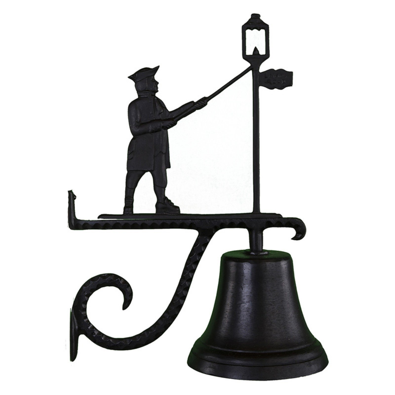 Cast Bell with Black Lamplighter Ornament