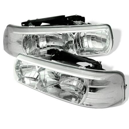 Spyder Chevy Silverado 1500/2500 99-02 / Chevy Silverado 3500 01-02 / Chevy Suburban 1500/2500 00-06 / Chevy Tahoe 00-06 Crystal Headlights -