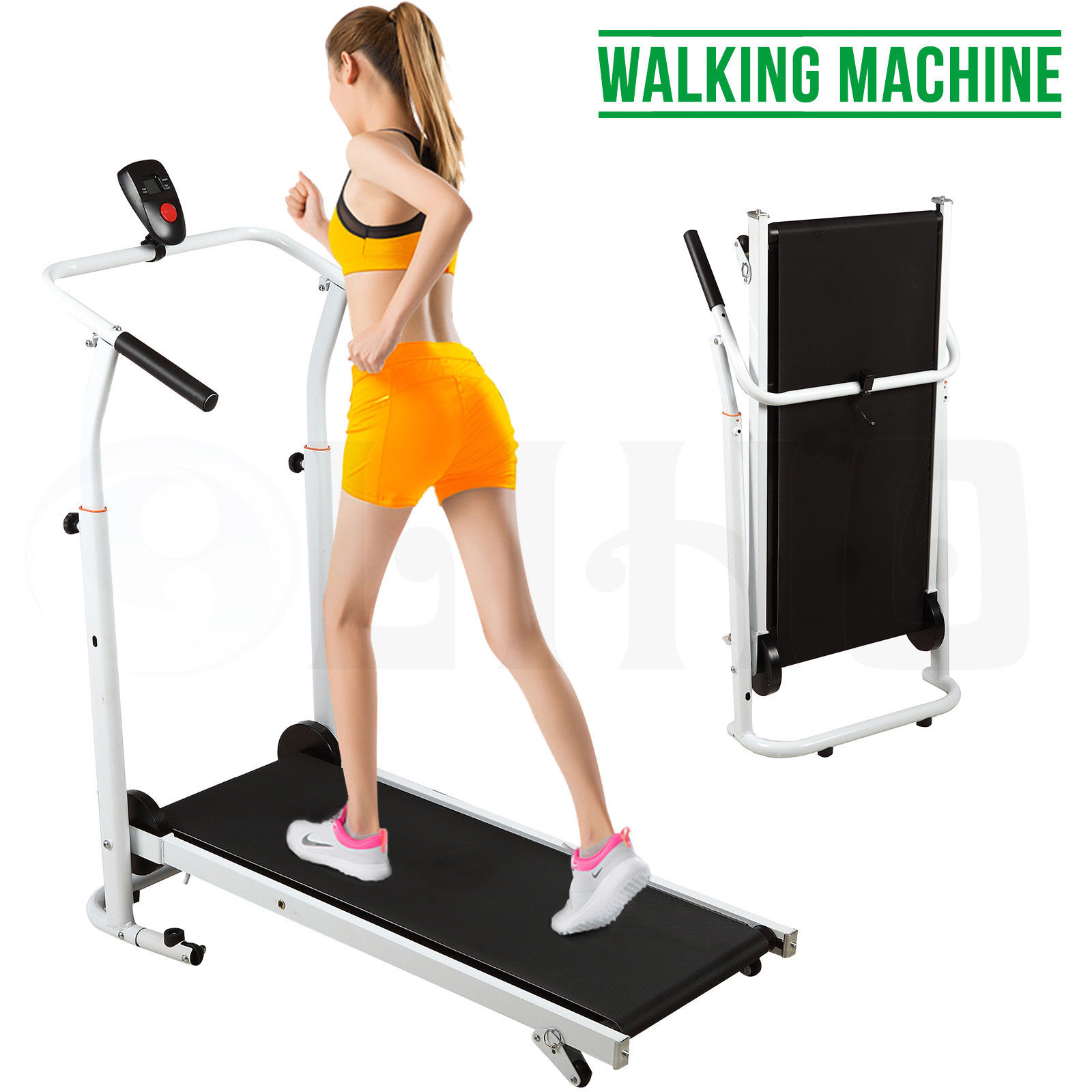 Portable Folding Non-electric Treadmill Manual Treadmill Incline Walking Running Fitness Gym Machine