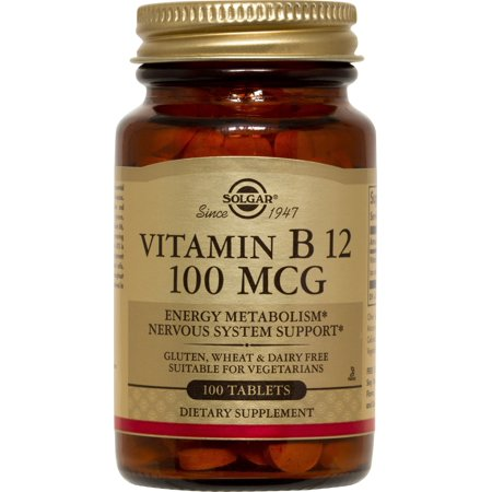 Solgar B-12 Vitamins (Solgar Vitamin B12 100 mcg Tablets, 100 Ct, 3 Pack )