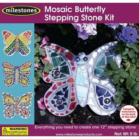 Mosaic Stepping Stone Kit-Butterfly