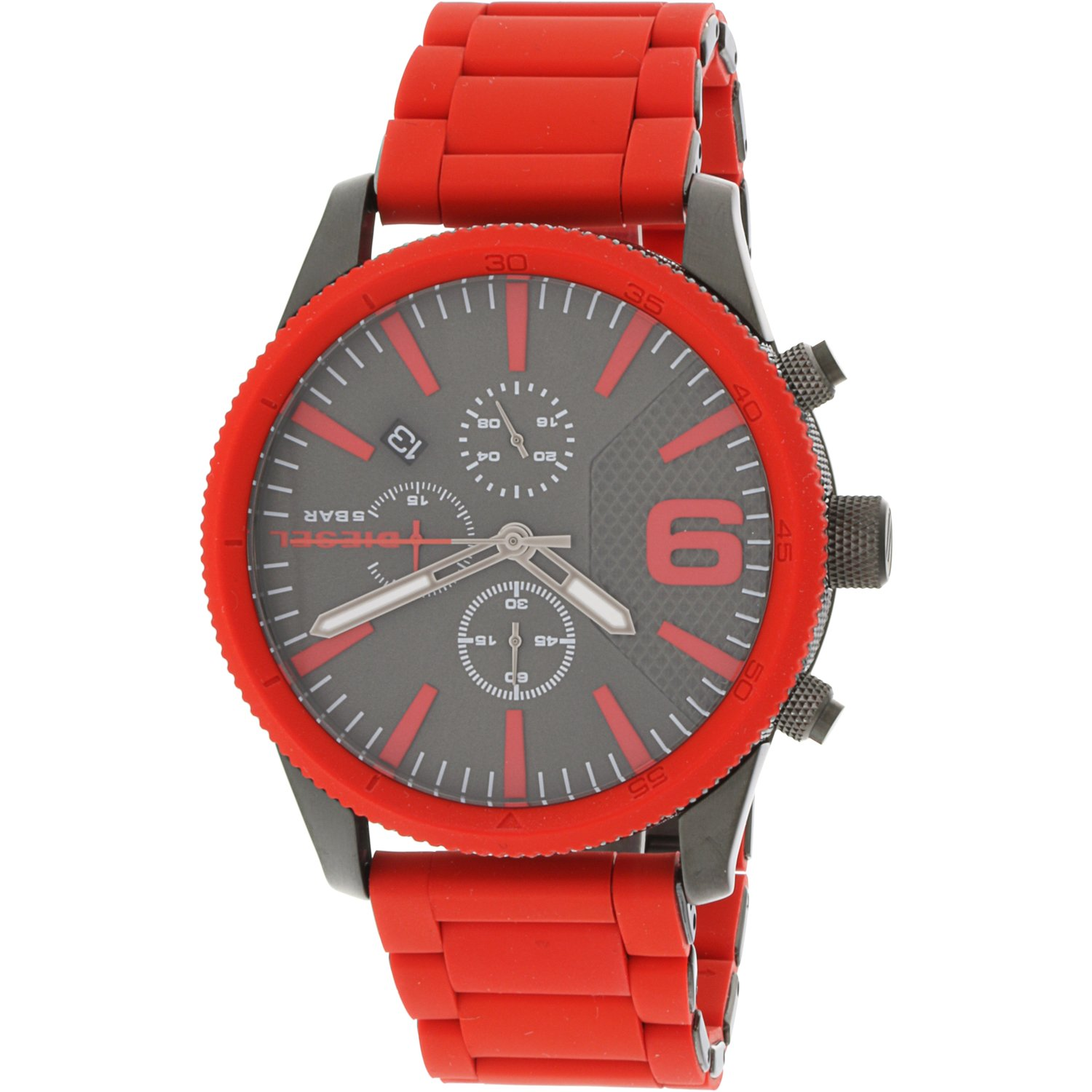 Diesel Men's Rasp DZ4448 Red Resin Japanese Quartz Fashion Watch