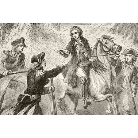 Major John Andre Is Captured By John Paulding David Williams And Isaac Van Wart During The American Revolutionary War From A 19Th Century Illustration Canvas Art - Ken Welsh  Design Pics (34 x
