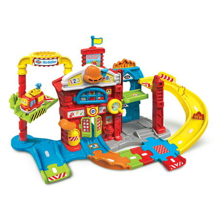 Wooden Fire Station (VTech Go! Go! Smart Wheels Save the Day Fire Station )