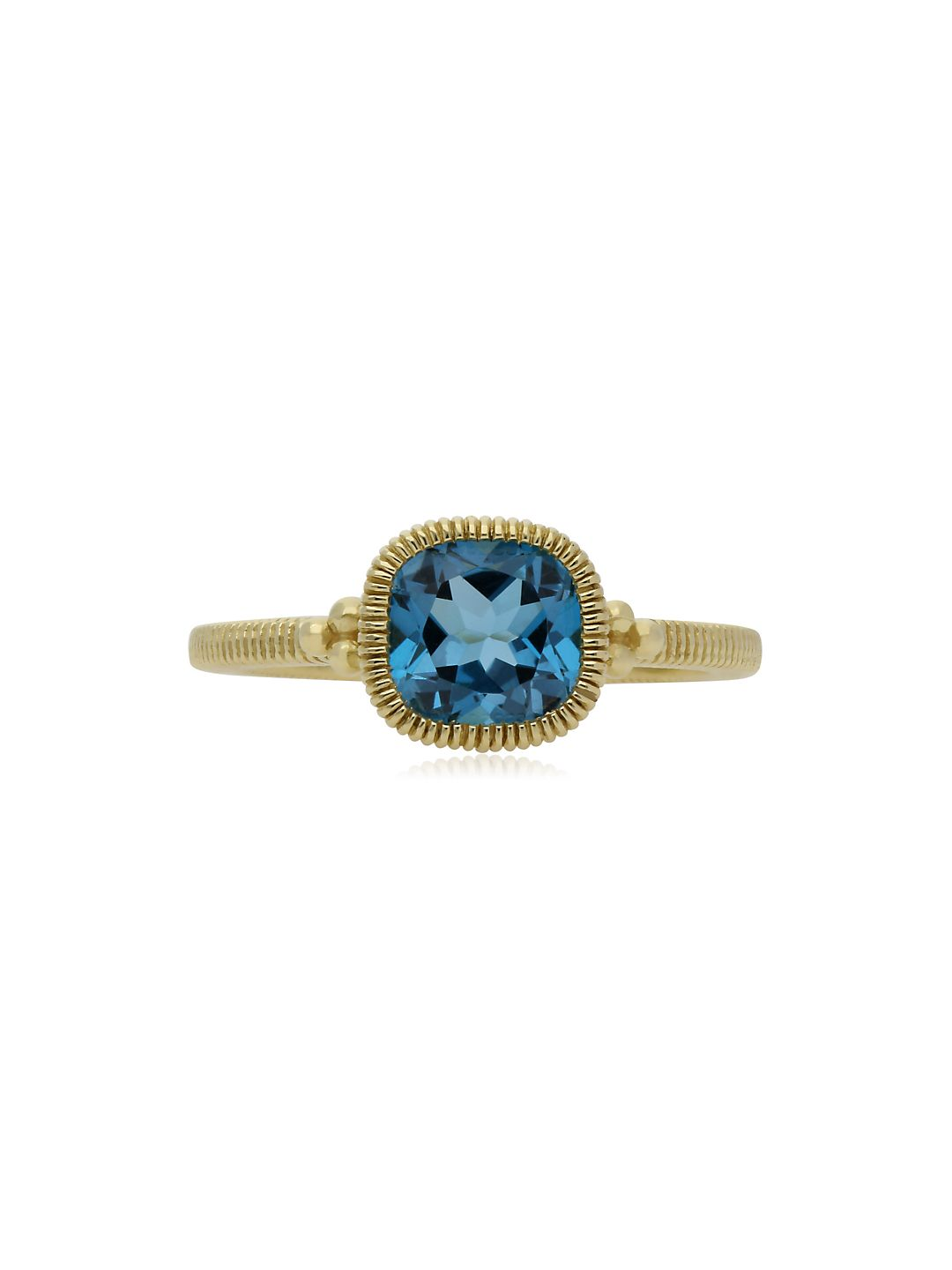 Boca London Blue Topaz and 14K Yellow Gold Stack Ring