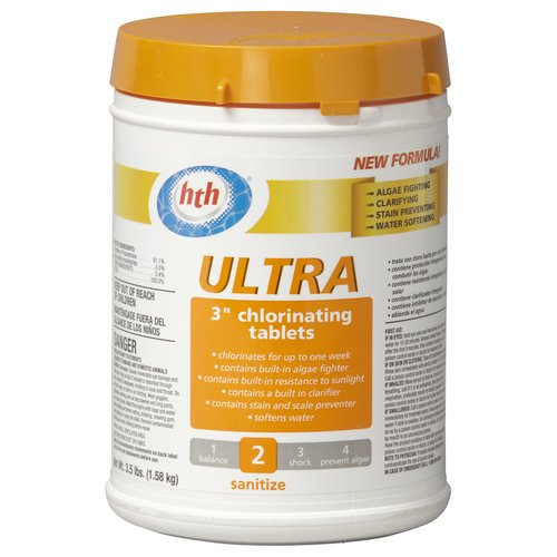 "HTH Ultra 3"" Chlorinating Tablets, 3.5 lb"