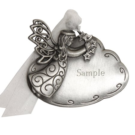 Personalised Christmas Ornaments (Personalized Pewter Angel on Cloud Christmas)