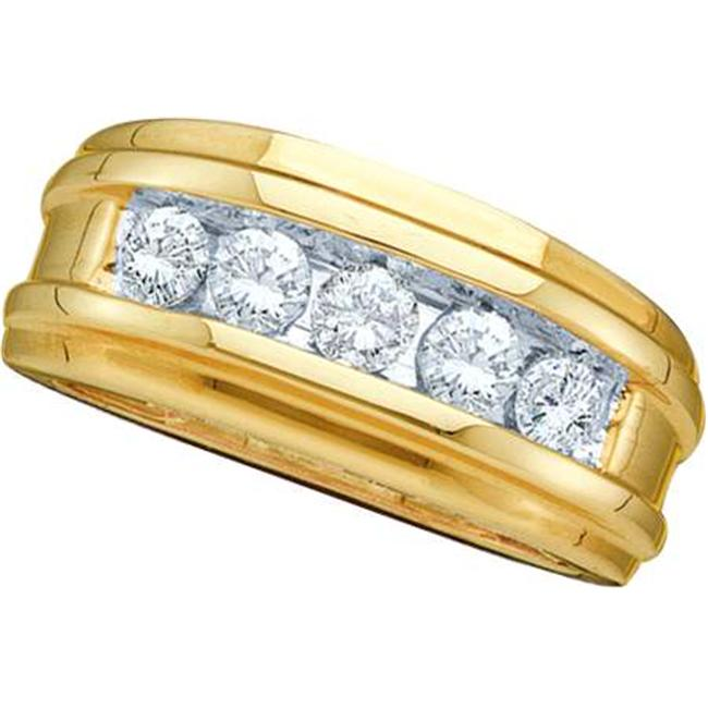 Gold and Diamonds GM236 0. 50CT-DIA FASHION MENS BAND- Size 7