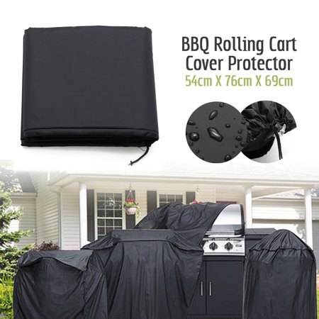 BBQ Gas Grill Cover Heavy Duty Weber Waterproof Barbeque Pro Grills Outdoor Covers High Quality Weather Dust Resistant Portable Weber Q 200 Series Compatible Large -21 X 30 inch