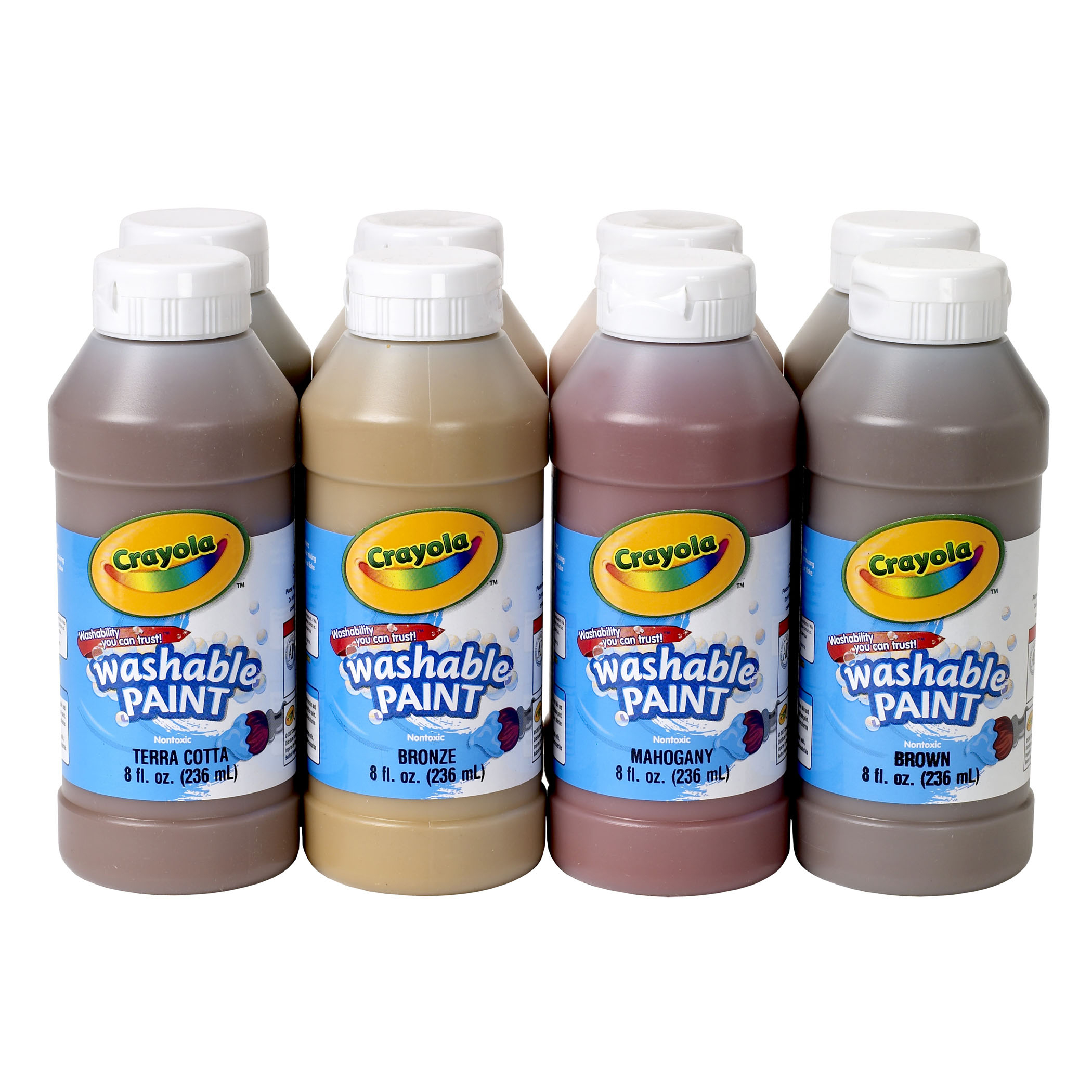 Crayola Multicultural Washable Tempera Paint Set, Set Of 8