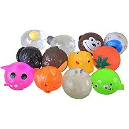 Splat Ball 1 Dozen 12 Set Assortment Pack Squeeze Squishy Splatball