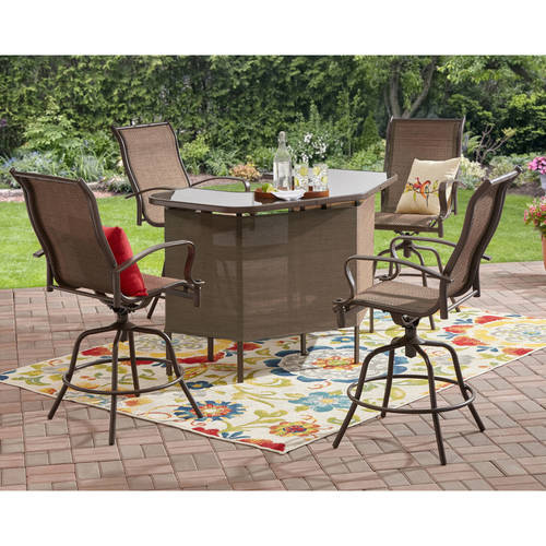 Genial Mainstays Wesley Creek 5 Piece U Shape Bar Set, Tan   Walmart.com