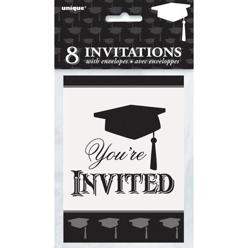 Classic Graduation Invitations, 8ct