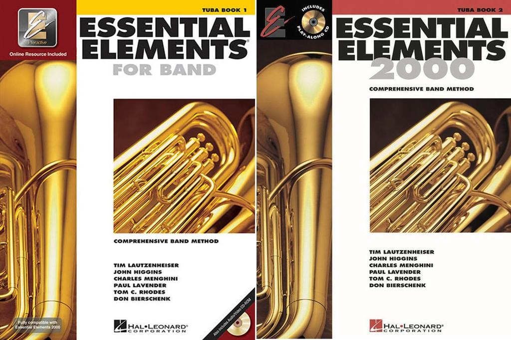 Essential Elements for Band Tuba in C (B.C.), Books 1-2, 2 Book Set, EE TUBA 2BK by Hal Leonard