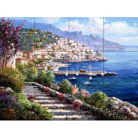 Ceramic Tile Mural - Amalfi Coast - by Sam Park/Soho Editions - Kitchen backsplash / Bathroom