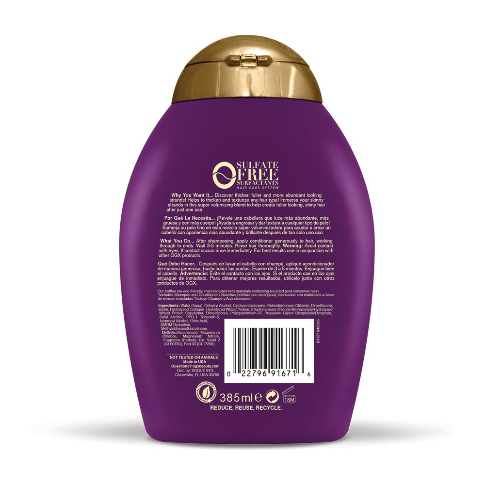 OGX 13 fl. oz. Thick Full Biotin Collagen Conditioner photo