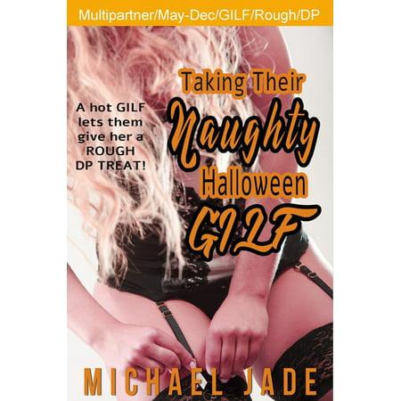 Taking their Naughty Halloween GILF - - Naughty Halloween Cards