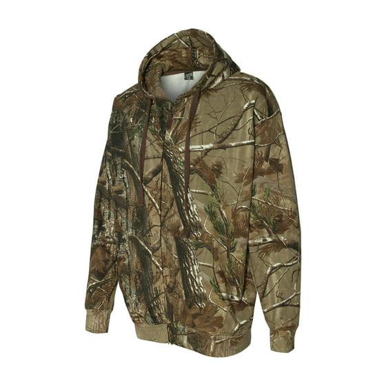 d7443cc58 Code Five Drop Ship Men's REALTREE® Camo Zip Fleece Hoodie - Walmart.com
