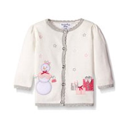 Hartstrings Infant Girls Snowman Motif Cardigan Sweater (3-6 - Hartstrings Sweater Set