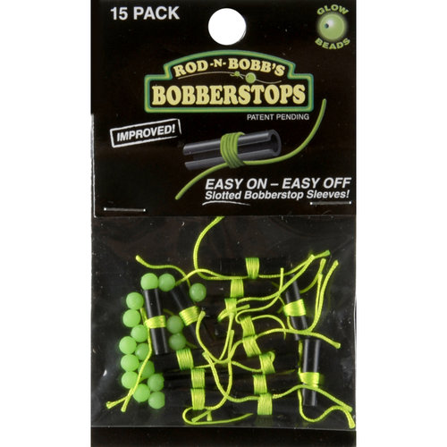 Rod-N-Bobb's Bobber Stops W/ Slotted Sleeves & Glow In Dark Beads