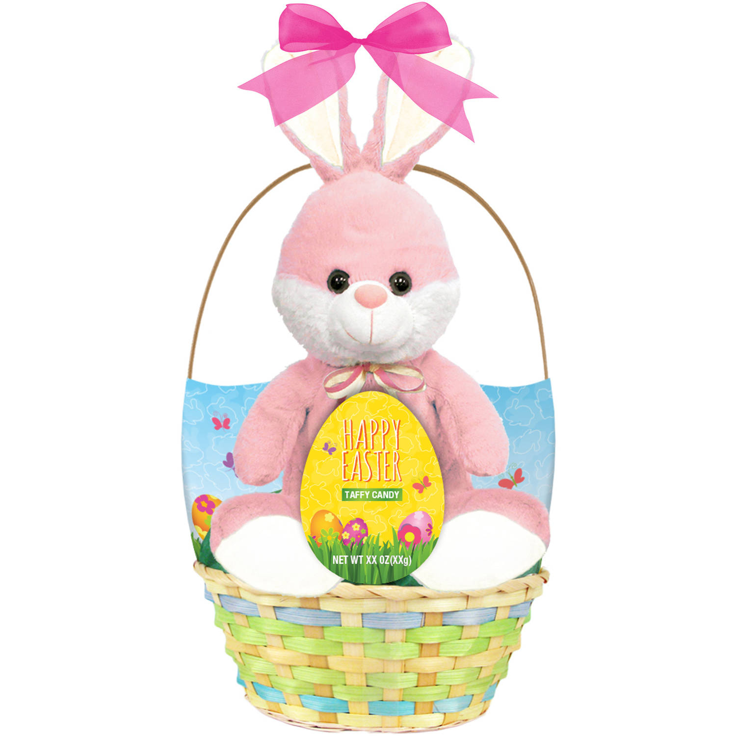 Easter Basket with Plush Animal Toy & Primrose Taffy