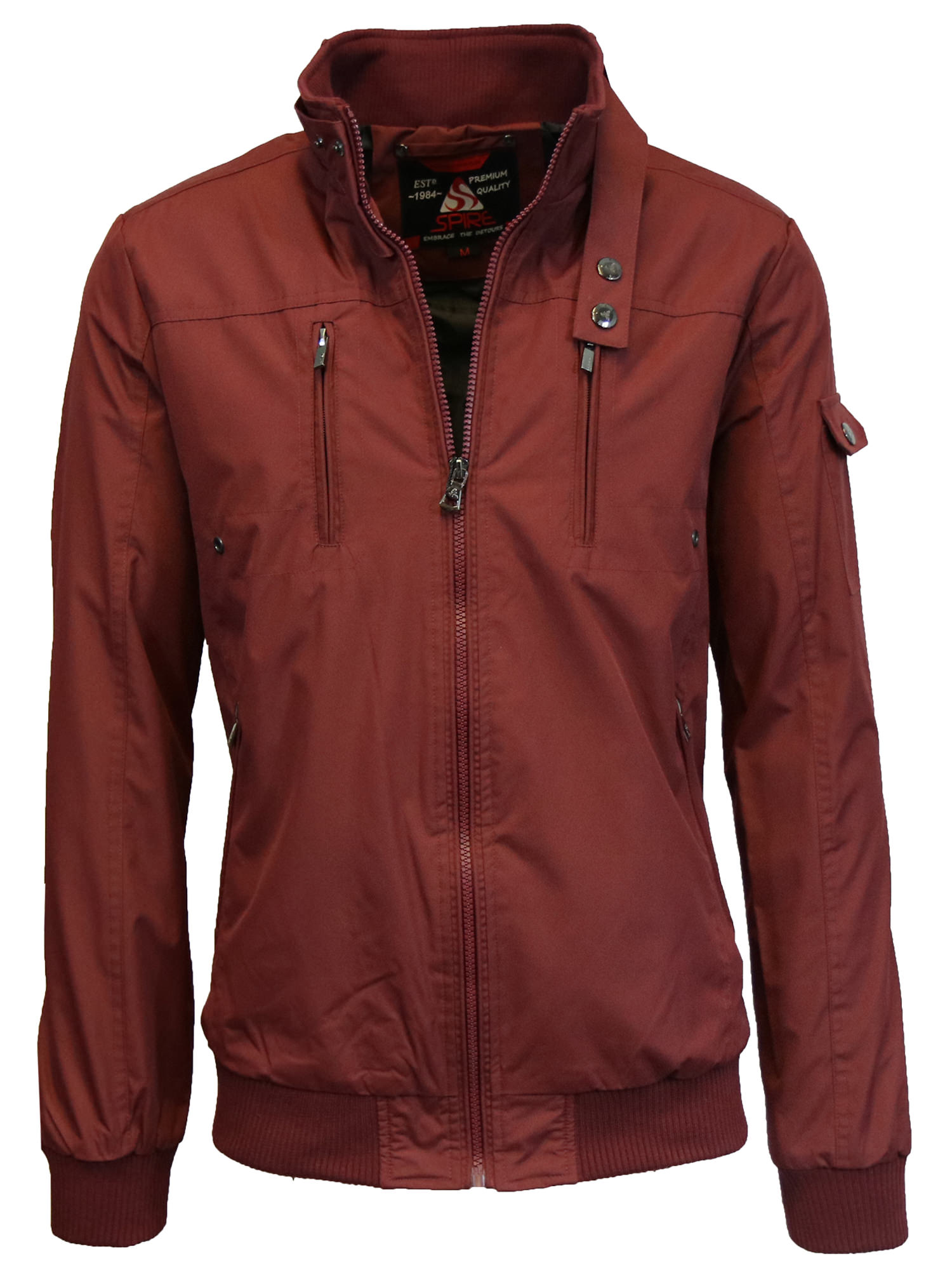 Mens Lightweight Flight Moto Bomber Jackets