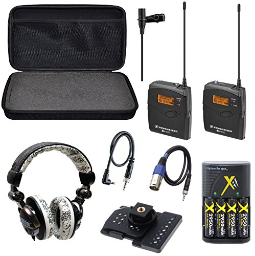 Sennheiser EW 112P   EW112P   EW 112-P G3-A omni-directional EW system Camera-Mount Wireless with Ecko EKU-FRC-GRFBK... by 33rd Street