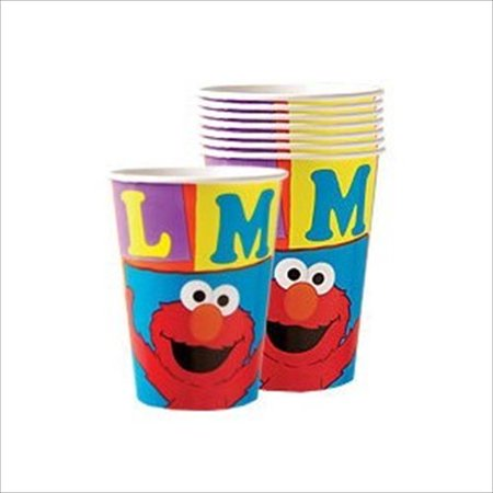 Sesame Street 'Elmo Loves You' 9oz Paper Cups (8ct) (Sesame Street Plastic Cups)