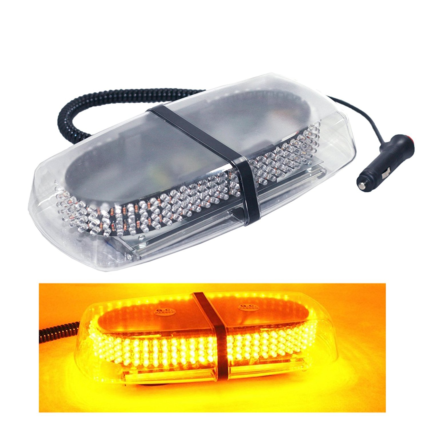 240 LED Light Bar-Emergency Vehicle Lights for Hazard Warning- Amber Strobe lights for Truck &Car with Magnetic Base