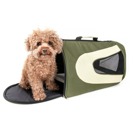 Foldaway Pet Carrier (Airline Approved Folding Zippered Sporty Mesh Pet Carrier)