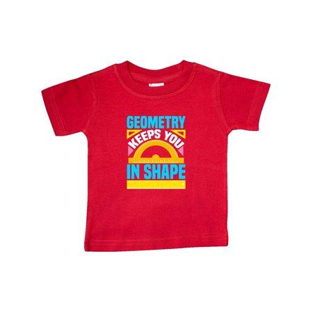 Geometry Math Geek Funny School Baby T-Shirt Geek Pink T-shirt