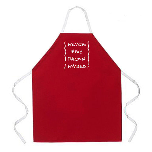 Attitude Aprons by L.A. Imprints Never Fry Bacon Apron