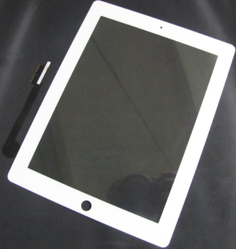 White Touch Screen Panel Glass Replacement with Digitizer for Apple iPad 3