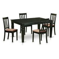 East West Furniture Weston 5 Piece Splat Back Dining Table Set
