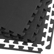 Clevr EVA Foam Interlocking Floor Mat, Charcoal Grey, 24 pcs, 96 sq. ft.