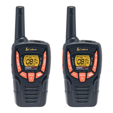 Cobra 23-Mile 2-Way Radios Walkie Talkies, 2-Pack (Cxt385)