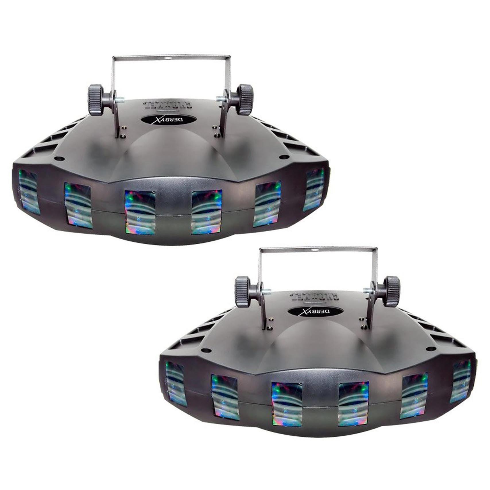 Chauvet DJ Derby X DMX-512 Multi-Colored LED RGB Strobe DJ Light Effect (2 Pack)