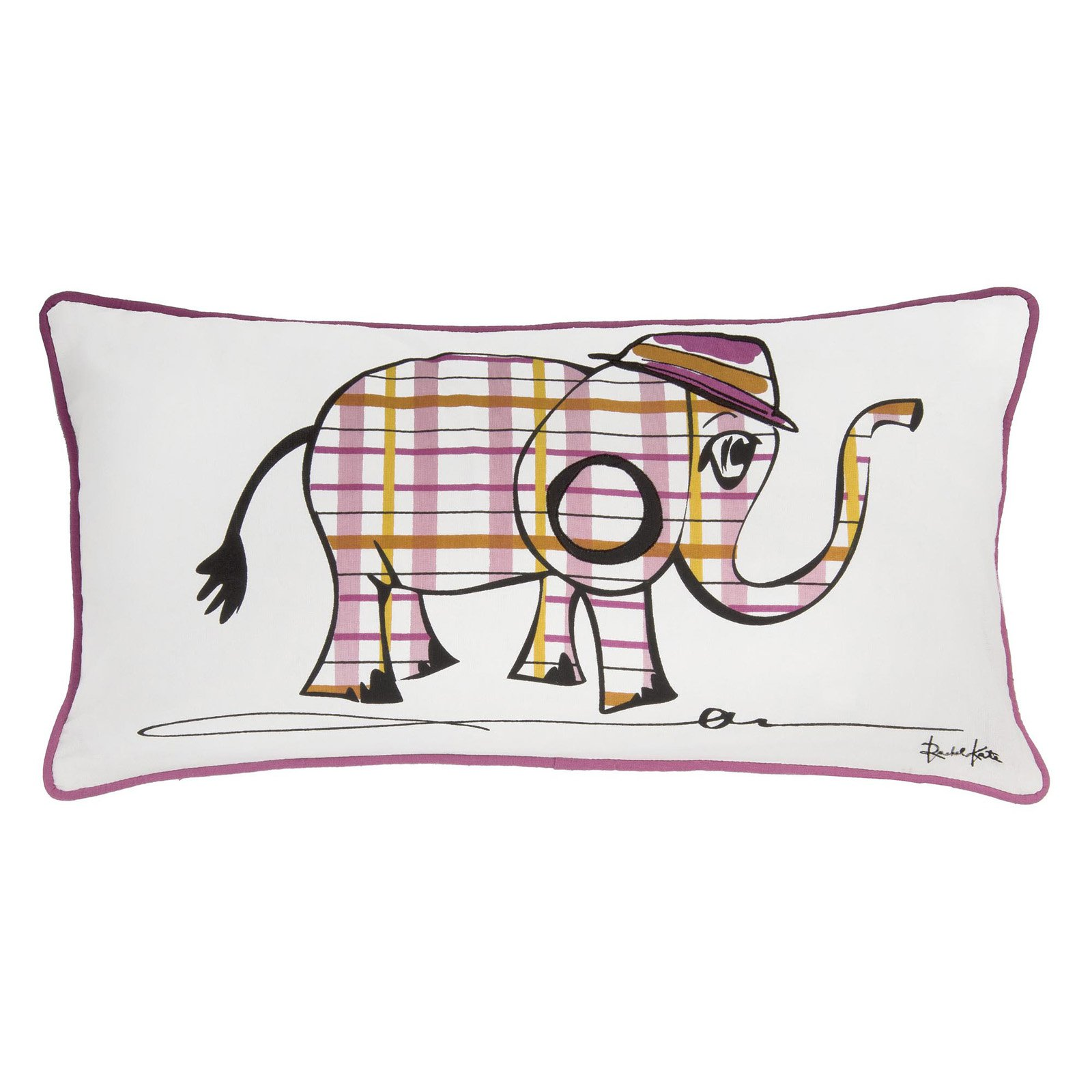 "Rachel Kate by Rizzy Home elephant 11"" x 21"" Cotton decorative filled pillow"