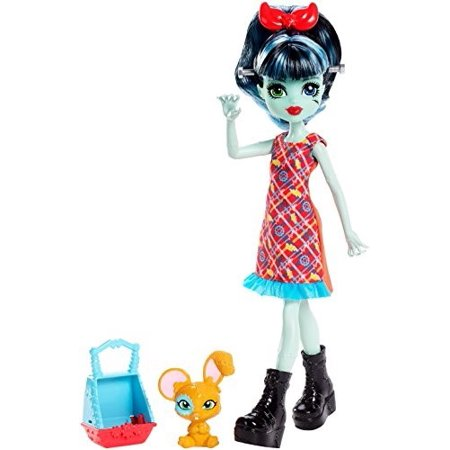 Monster High Monster Family Alivia Stein Fashion Doll & Pet Hybrid Bunny