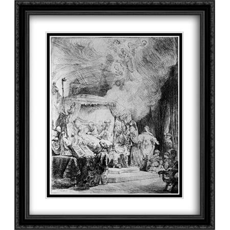 Death Of The Virgin 2x Matted 28x32 Large Black Ornate Framed Art