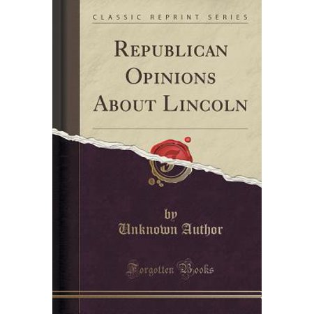 10 Opinions About Halloween (Republican Opinions about Lincoln (Classic)