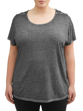 c7a58b0d Product Image Women's Plus Size Tee with Shoulder Detailing