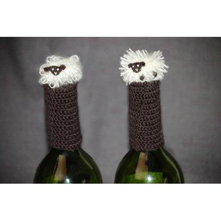 Lantern Moon Handcrafted Wine Bottle Topper - Curly Fleece
