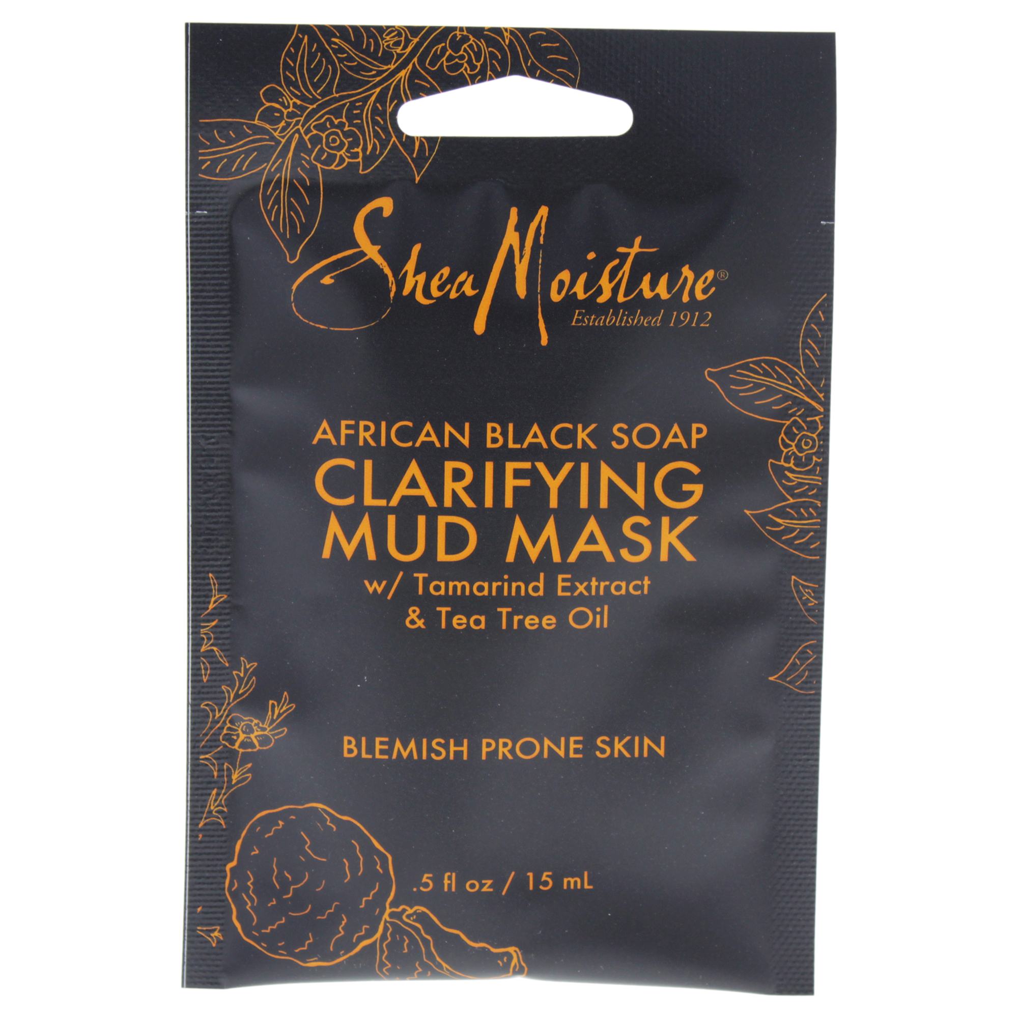 SheaMoisture African Black Soap Face Mud Mask Packette, .5 oz