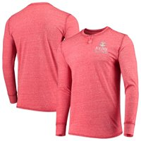 New York Red Bulls Concepts Sport Podium Henley Long Sleeve T-Shirt - Red