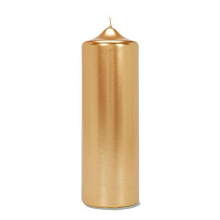 Pillar Candle Metallic Gold 3X8 In