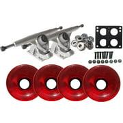 Randal 180 LONGBOARD TRUCKS Package 76mm T.RED Wheels Abec 7